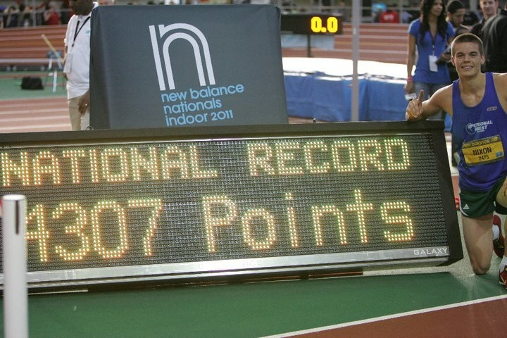 Gunnar Nixon - 2011 New Balance Indoor Nationals - Pentathlon Indoor National Record
