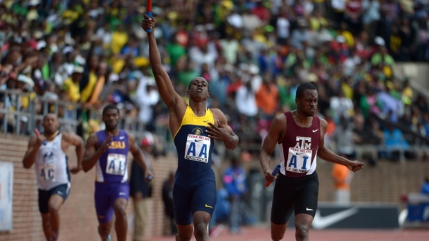 UTech defeats Texas A&M and LSU in the 4x200m at the 2014 Penn Relays