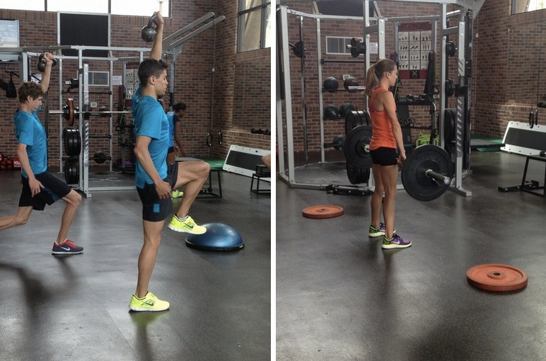 Olympic sprinter weight training