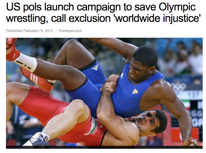 articles on olympic wrestling