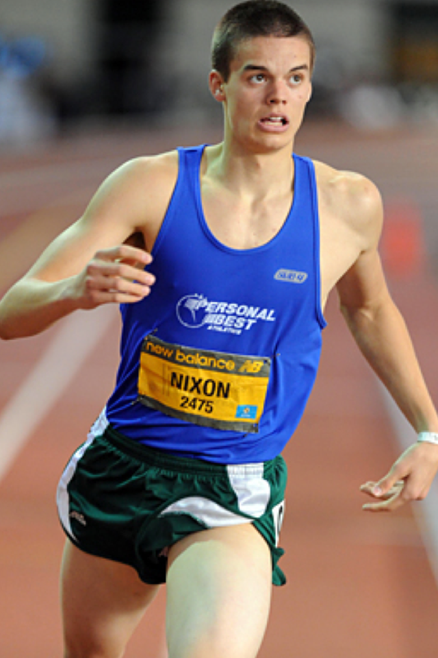 "Gunnar Nixon setting the Indoor High School National Pentathlon Record. After a struggling HJ performance, he brushed it off and confidently asked, ""What do I need to run the 1000m in to set the record?"" He turned all his attention and focus on that mark, and this story is a happy ending story, running less then a second faster than he needed, Gunnar set the National Record, and obviously a Personal Best!"